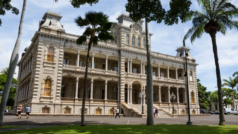 Caption - Iolani Palace, owned by the state of Hawaii and operated by a nonprofit, has seen revenue plummet during the coronavirus pandemic.