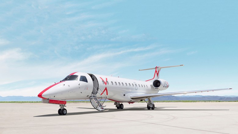 JSX's 30-seat Embraer 135 takes guests from a number of cities to Las Vegas.