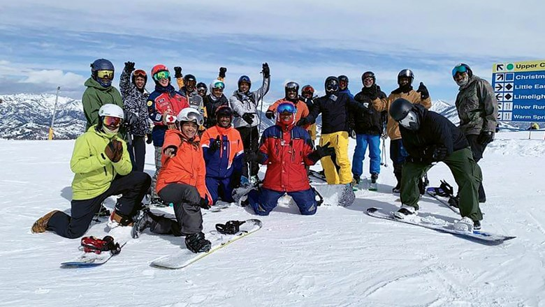 Attendees of the National Brotherhood of Skiers 2020 Summit at Sun Valley, Idaho.