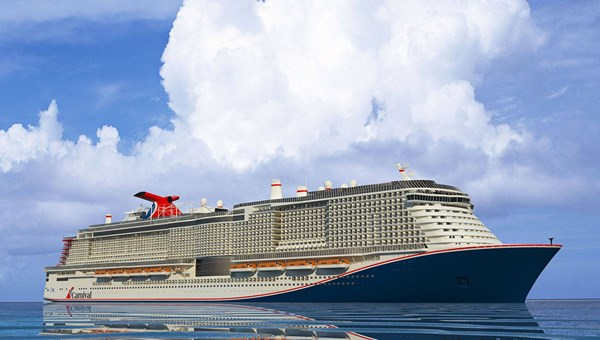 A rendering of Carnival's second Excel-class ship, sister to the Mardi Gras.