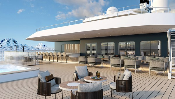 A rendering of the deck on the Minerva.
