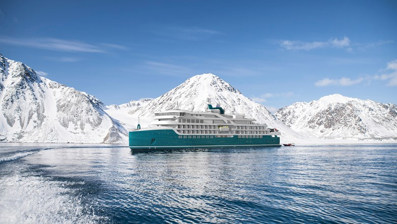 A rendering of one of Swan Hellenic's upcoming expedition cruise ships.