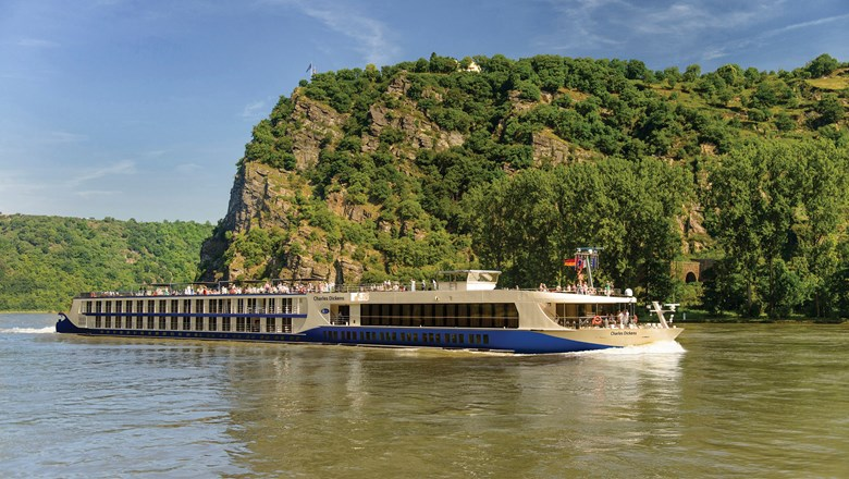 Riviera River Cruises' Charles Dickens. The line plans to resume sailings in Europe in August.