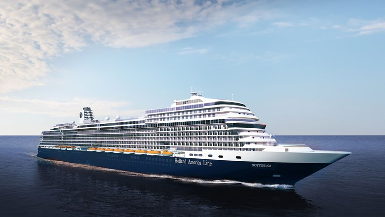 A rendering of the Rotterdam VII, the latest in Holland America Line's Pinnacle class.