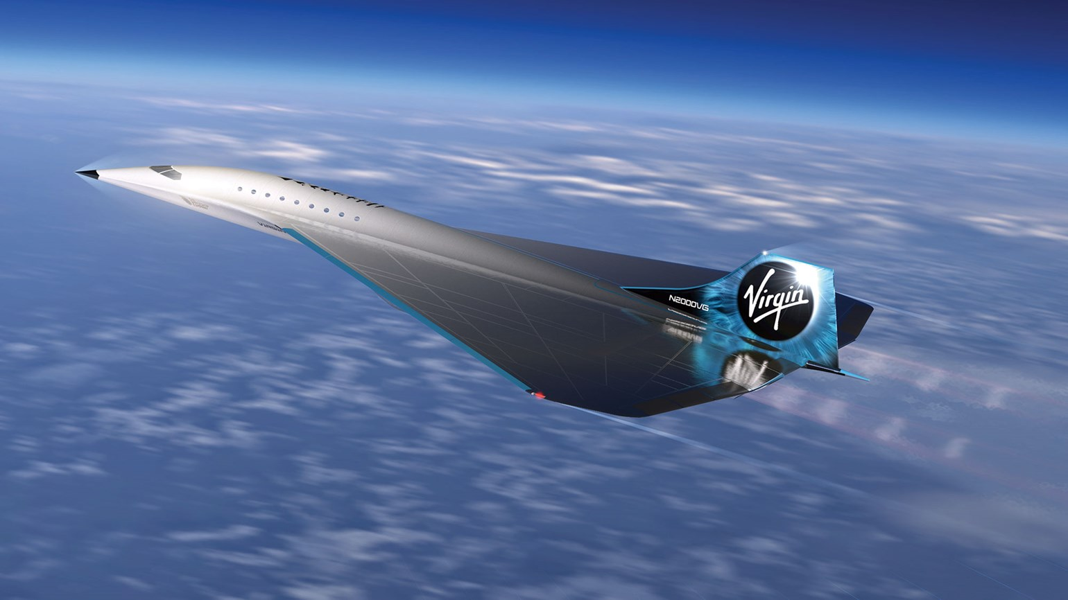 A supersonic aircraft is in the works from Virgin Galactic