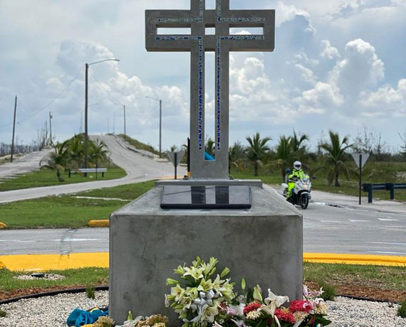 A memorial on Grand Bahama Island to the 31 lives lost there to Dorian.