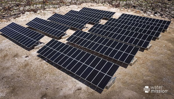 Solar panels have been installed in the Abacos to help to provide consistent energy for operating municipal water wells.