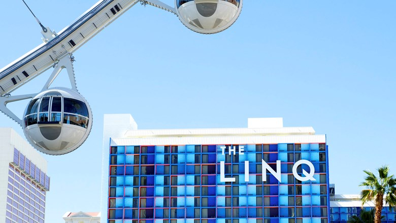 The Linq Hotel + Experience is located  at the center of the Strip in Las Vegas.