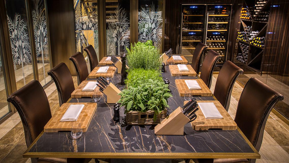 The private dining room on La Venezia.