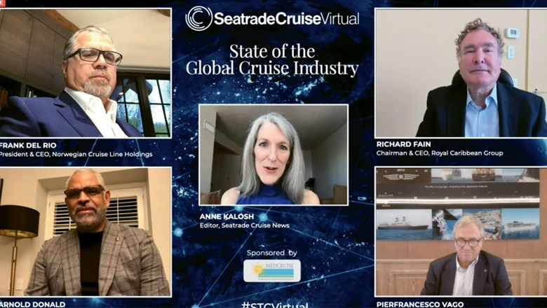 Cruise line executives discussed a return to U.S. sailing at the virtual Seatrade Cruise conference on Tuesday.
