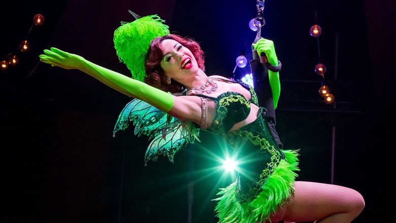 "The Green Fairy is one of the highlights of ""Absinthe,"" which reopens Oct. 28 at Caesars Palace."