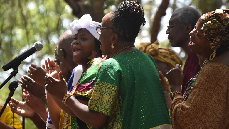 A concert of traditional Gullah Geechee spiritual music was held at the Historic Mitchelville Freedom Park on Hilton Head Island, S.C., during the 2019 Juneteenth Festival.""