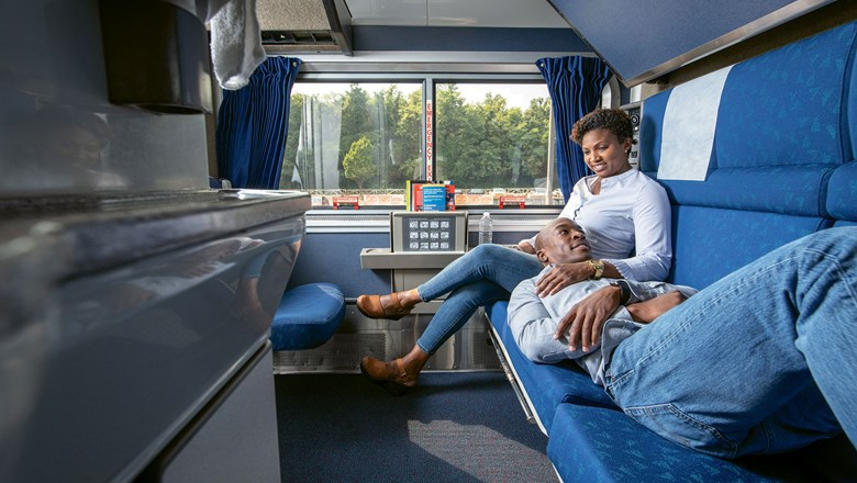 An Amtrak sleeper car. Amtrak Vacations said it has seen a dramatic increase in new customers booking train trips with private sleeper cars.
