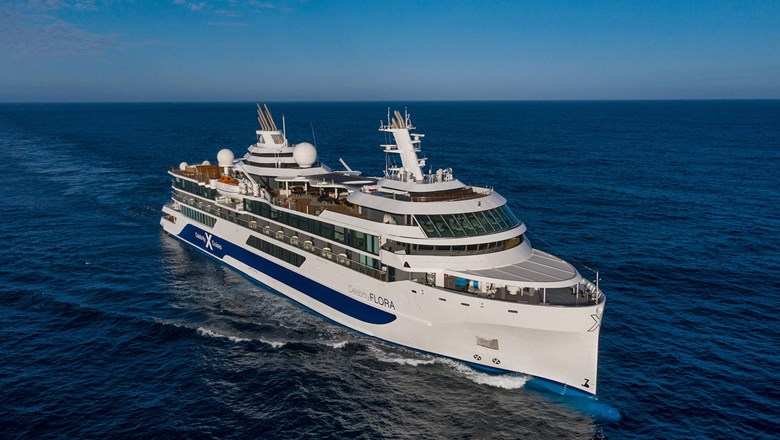 The Celebrity Flora is the first expedition mega yacht of its kind designed specifically for the Galapagos Islands.