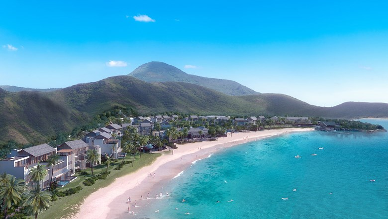 Aerial view of the Park Hyatt St. Kitts, one of four approved resorts for guests in quarantine.