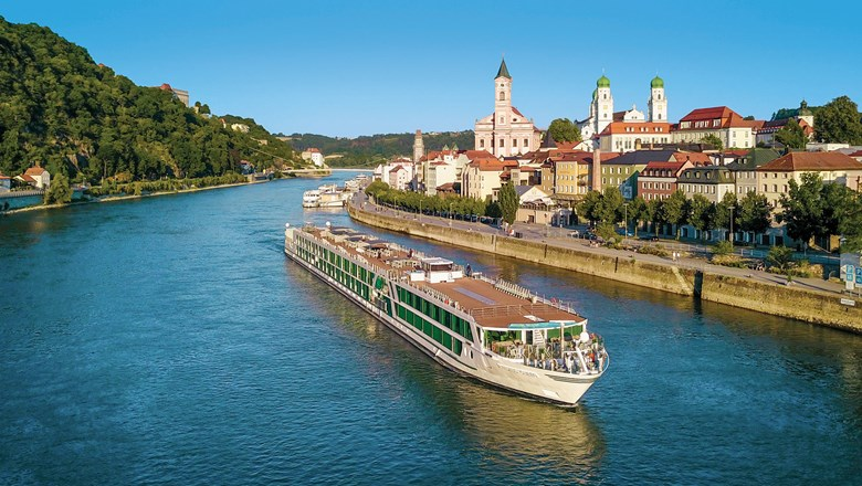 The Amadeus Queen sailing through Passau, Germany. Amadeus River Cruises still plans to sail holiday itineraries but said those plans could change.