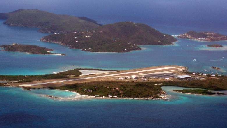 The Terrance Lettsome airport on Tortola in the British Virgin Islands.