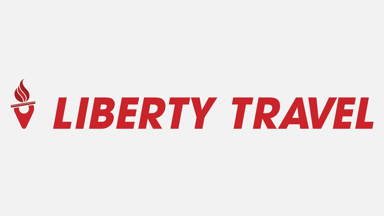 Liberty Travel's new logo.