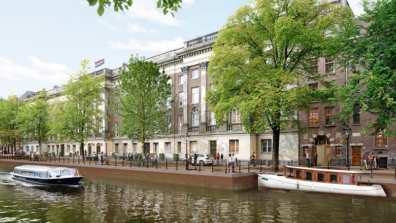 The exterior of the Rosewood Amsterdam, which will open in 2023.