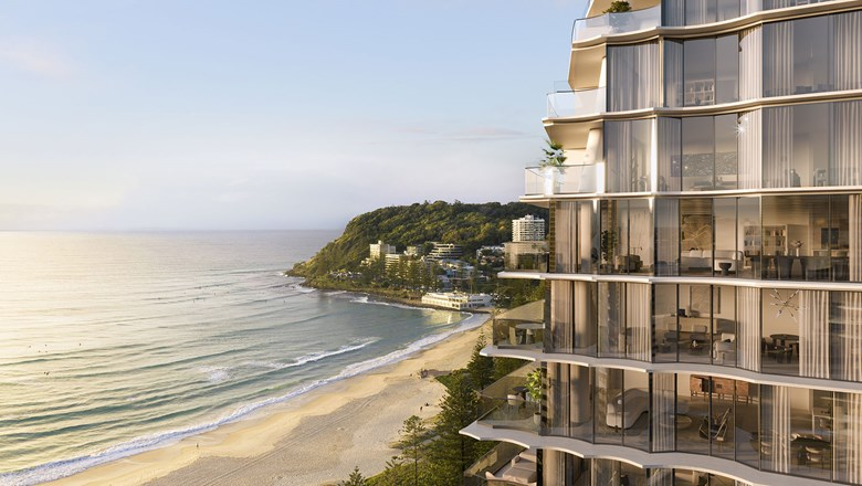 An artist's rendering of the Mondrian Gold Coast hotel in Australia.