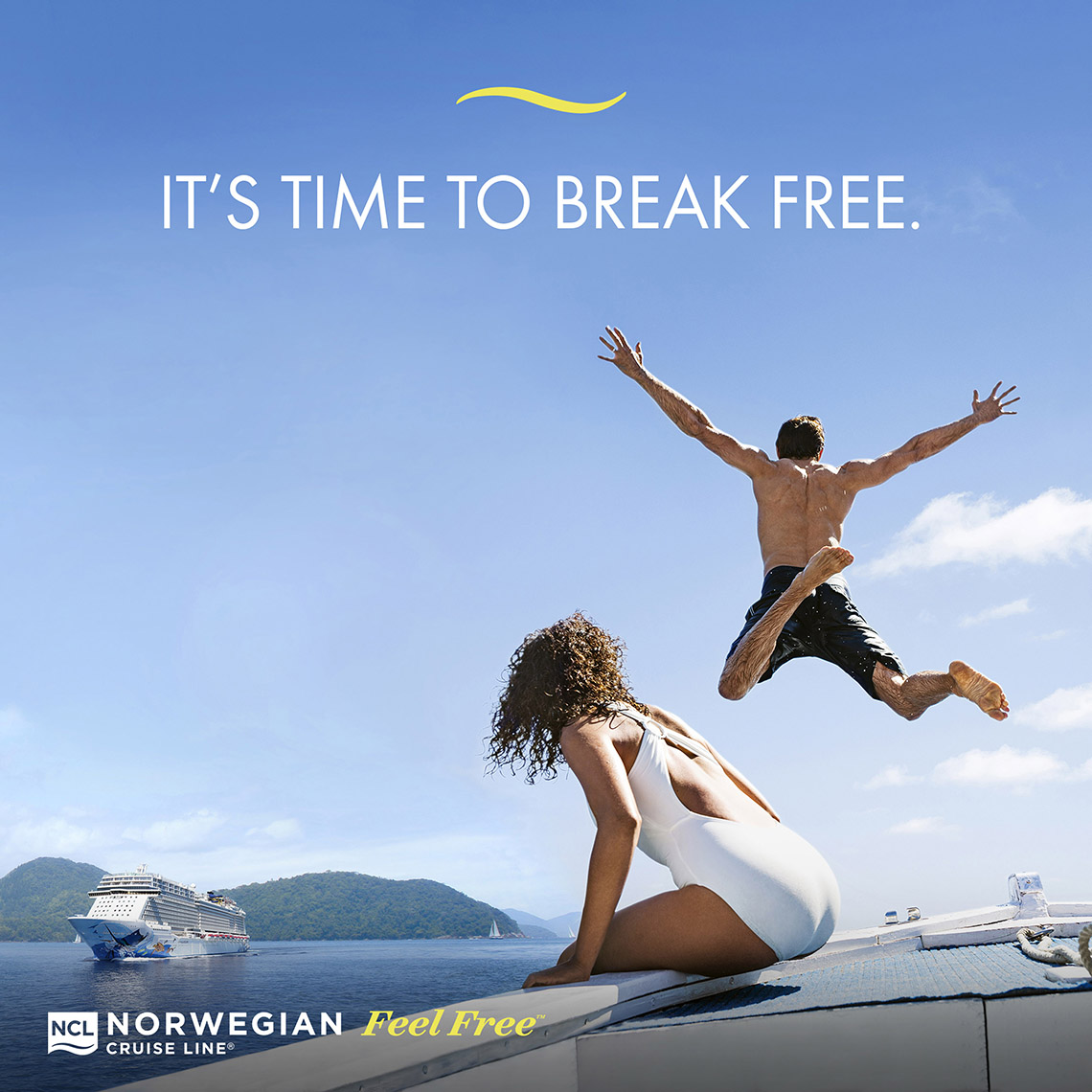 Norwegian Cruise Line Ads Encourage Consumers To Break Free Travel Weekly