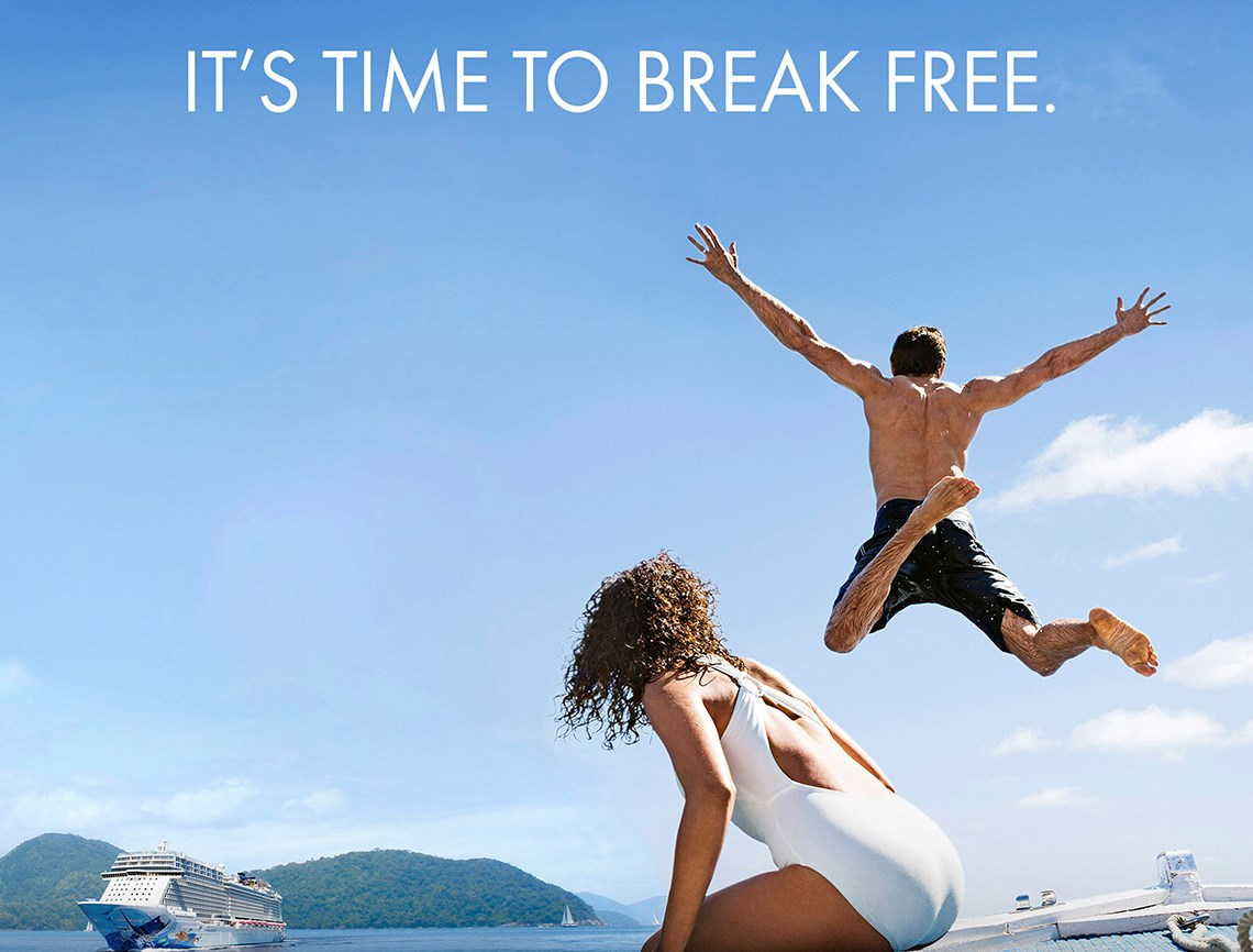 Norwegian Cruise Line ads encourage consumers to 'Break Free'