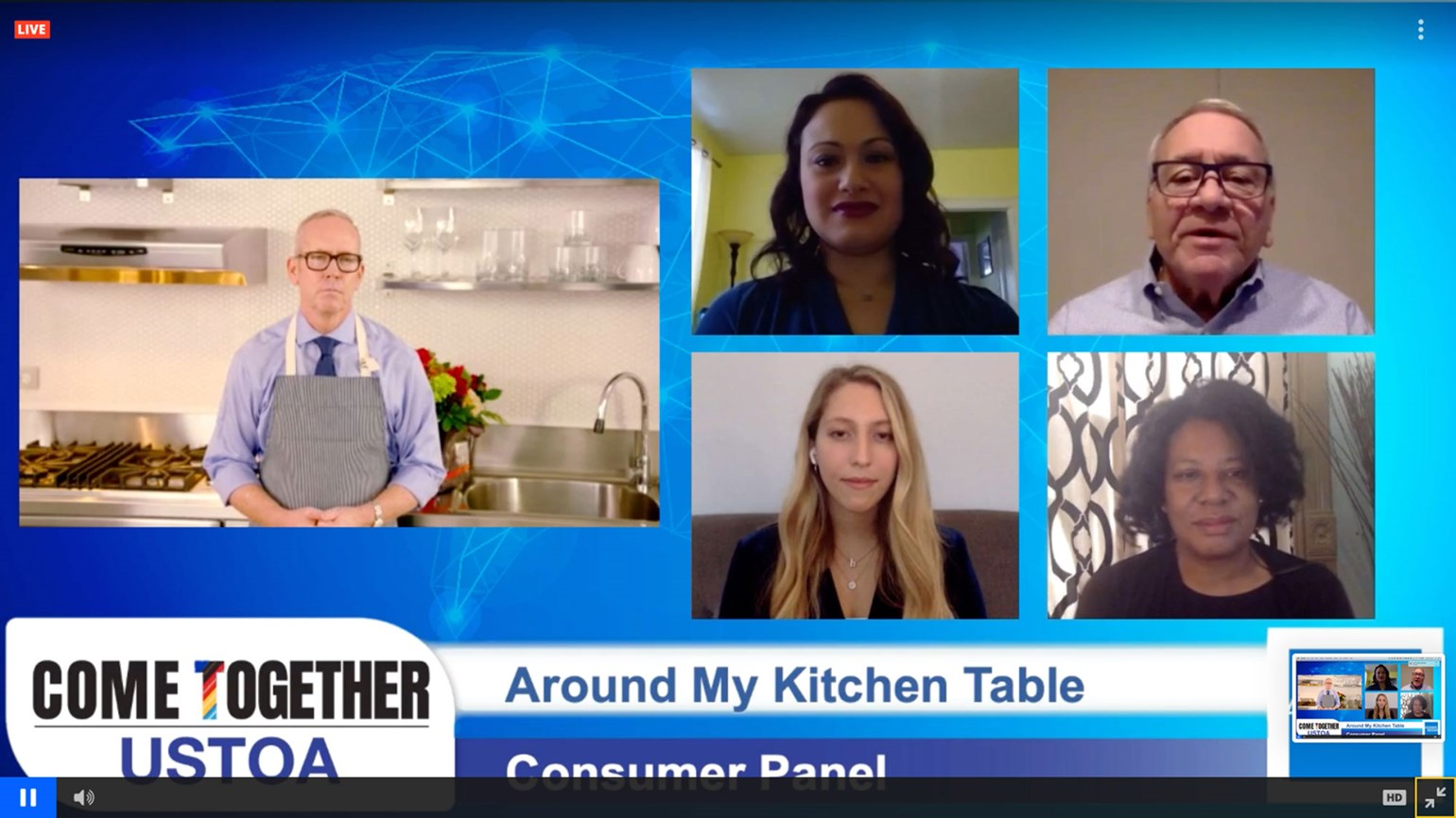 Consumers share their thoughts on travel at USTOA's 'kitchen table'