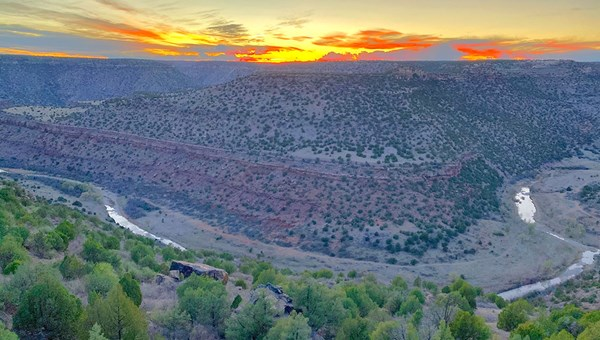 Views from the lodge at Canyon Madness Ranch, which is set on 14,000 acres in northeastern New Mexico.