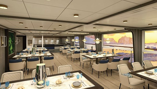 One of the two restaurants aboard the Ocean Victory.