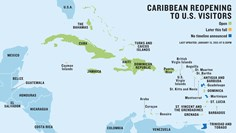 Updated: The latest Caribbean travel protocols for U.S. visitors and map