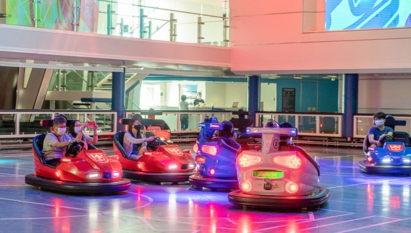 Bumper cars on the Quantum of the Seas, which launched cruises out of Singapore in December.
