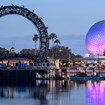 Disney erects 'Harmonious' ring structure at Epcot