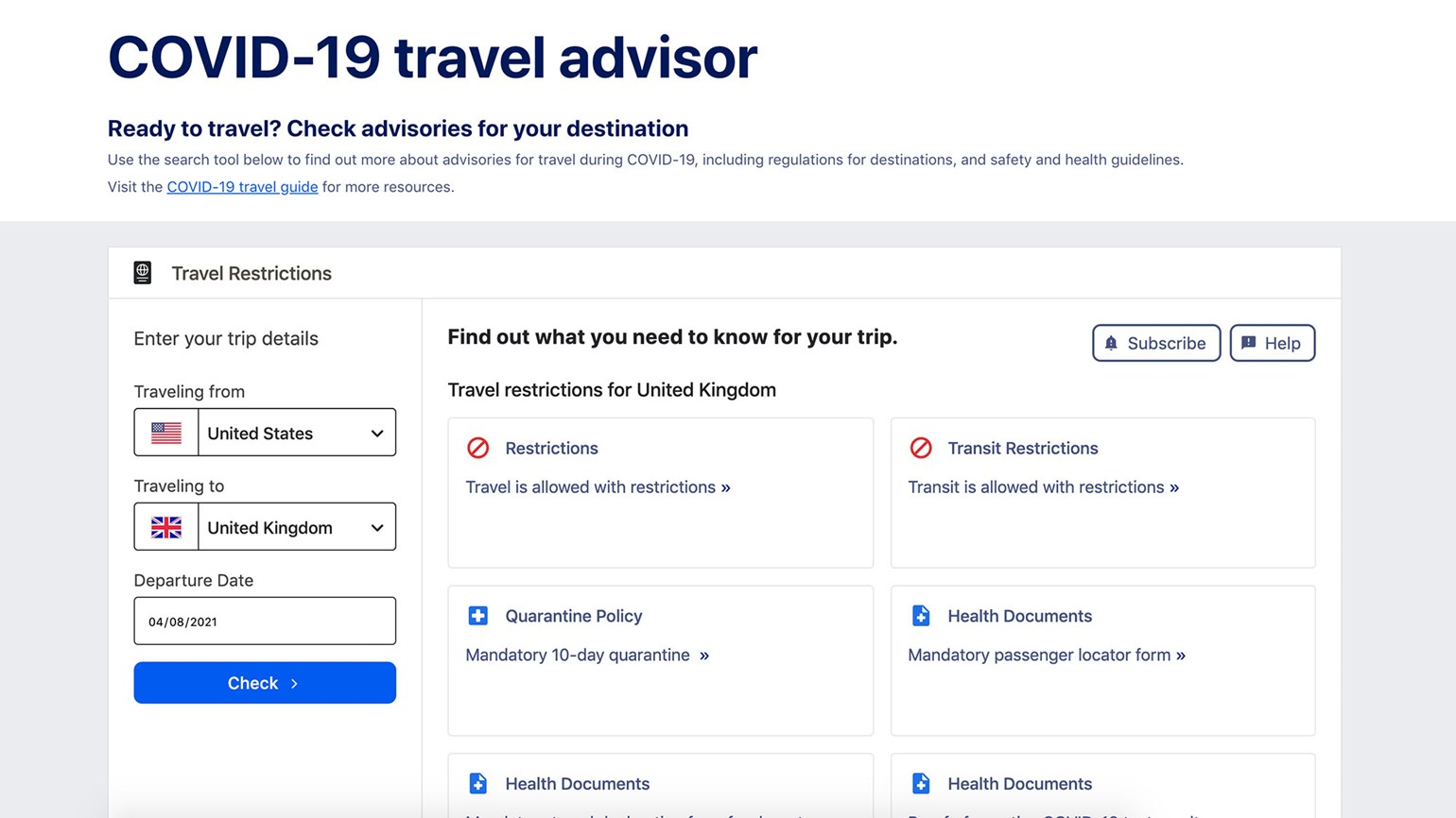 An Expedia Group tool will give travelers the latest on travel rules