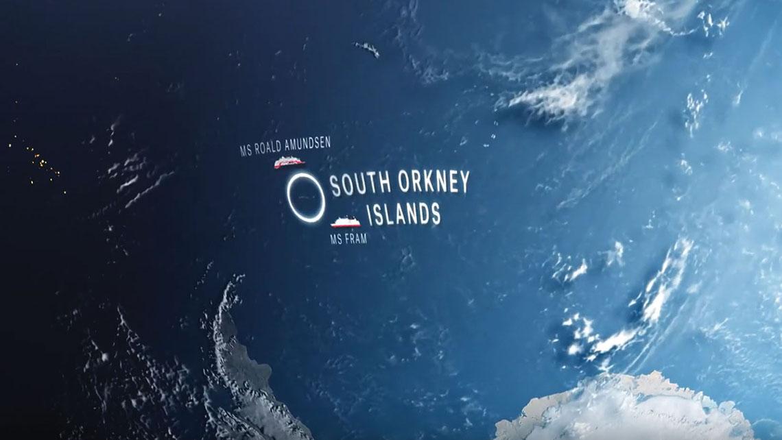 Hurtigruten's eclipse webpage shows where its ships will be located for the phenomenon.