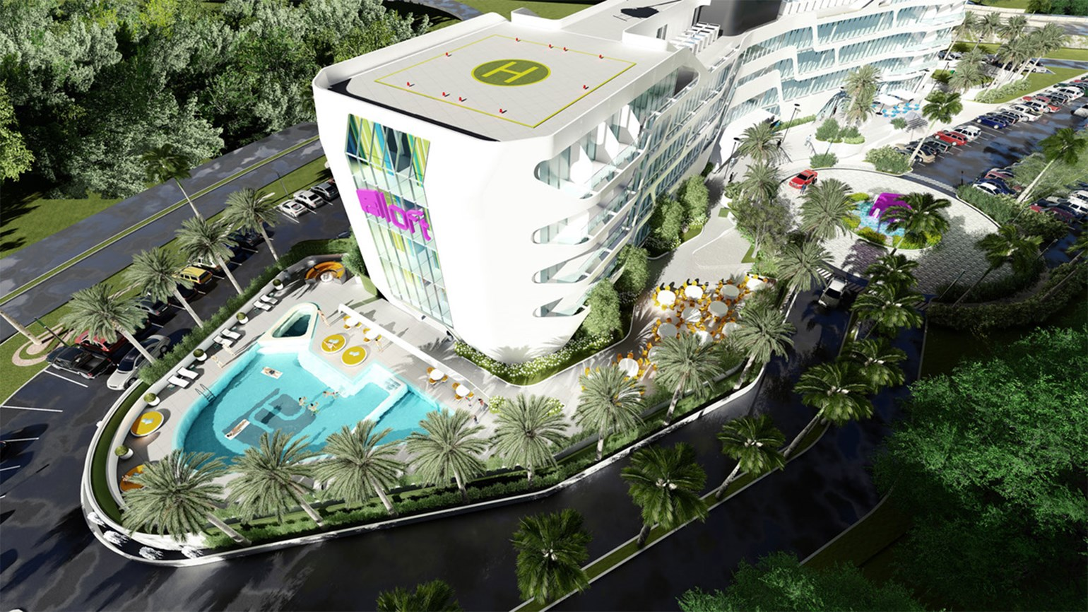 Aloft opens in Ponce, Puerto Rico, with Hard Rock Cafe and infinity pool