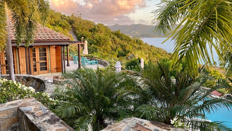 The three-bedroom villa at Lovango Resort and Beach Club is currently the only lodging available. A wide assortment of options is coming in time for high season.