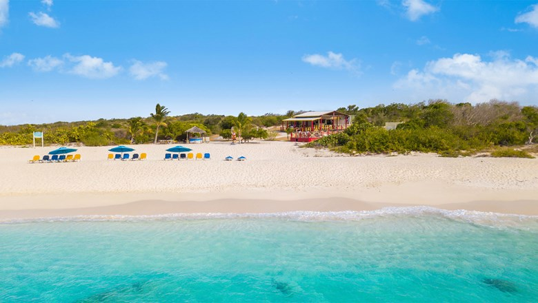 Prickly Pear Cay in Anguilla. The island has revised its entry guidelines for vaccinated travelers.