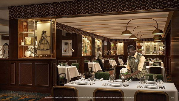 A rendering of the Disney Wish's new eatery, 1923, named for the year the Walt Disney Co. was founded.
