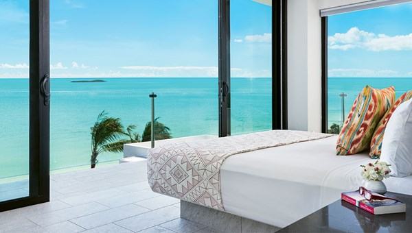 A bedroom at a Villas of Distinction property in Turks and Caicos.