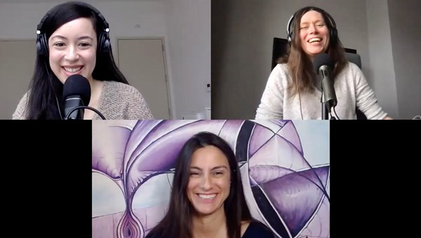 Wellness travel on the Folo by Travel Weekly podcast, clockwise from top left: Senior editor Christina Jelski, managing editor Rebecca Tobin and Dawn Oliver, the founder of Well Xplored and a wellness-travel expert.
