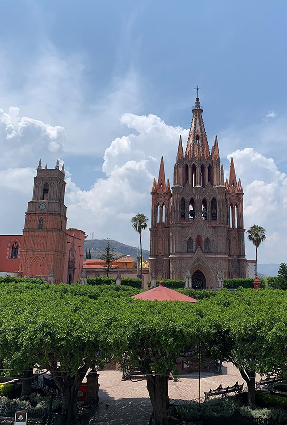 The Parroquia de San Miguel Arcangel.