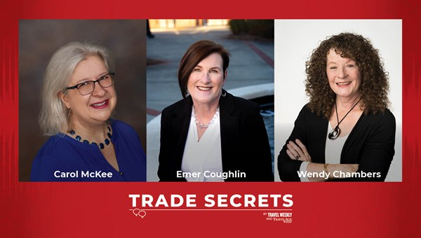 This week on Trade Secrets, our expert panel of travel advisors, from left: Carol McKee, Emer Coughlin and Wendy Chambers.