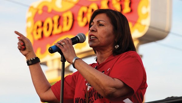Geoconda Arguello-Kline is secretary-treasurer for the Culinary Workers Union Local 226, which represents 60,000 hospitality employees across Las Vegas and Reno.