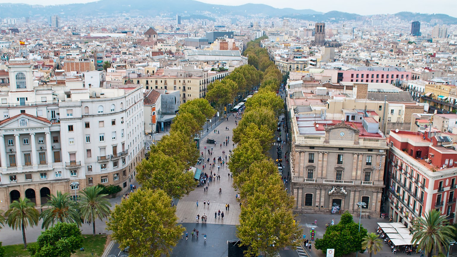Barcelona hotel occupancy drops
