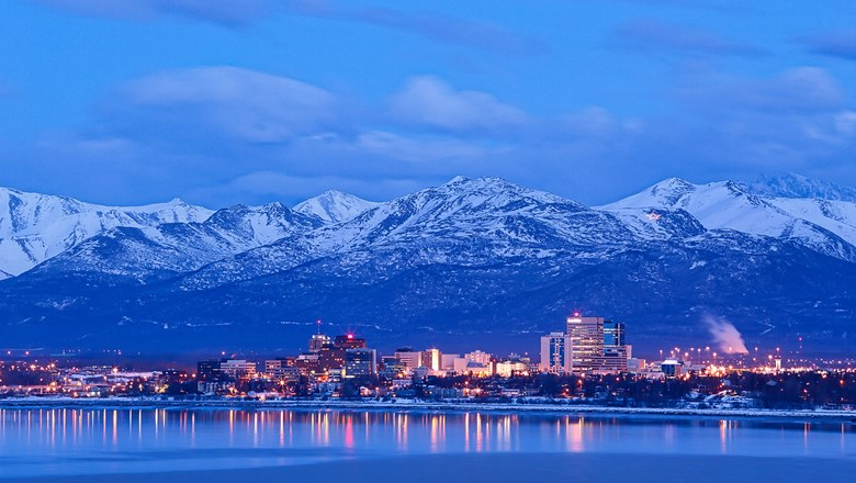 The Anchorage skyline.