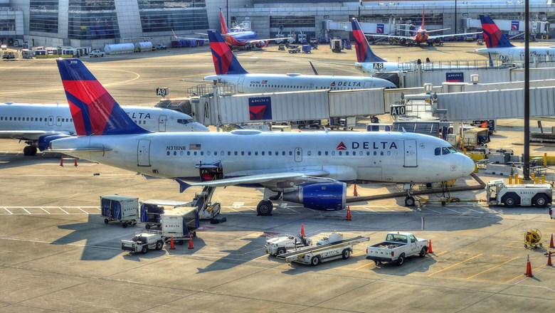 Delta planes in Boston [Credit: QualityHD/Shutterstock.com]