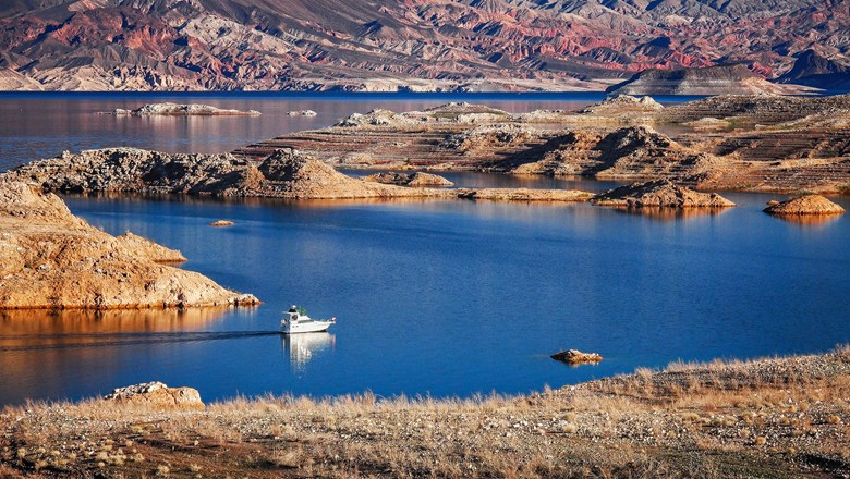 The Lake Mead National Recreation Area.