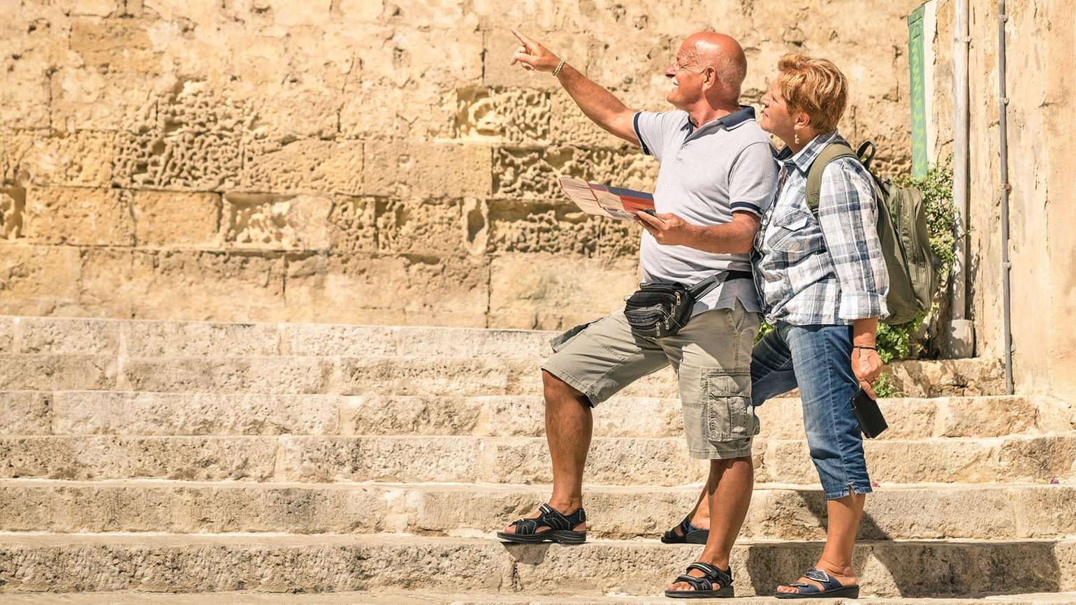 Tourists in Valletta