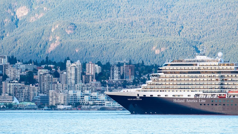 Holland America Line's Nieuw Amsterdam in Vancouver in 2017.