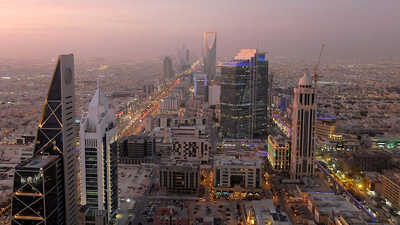The view of Riyadh from Faisaliyah Tower.